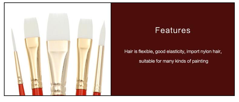 bianyo 5 шт. высокое качество книги по искусство Ист щетины волос краски ссориться наличии набор для экипажа gush рисунок краски инж наличии книги по искусство поставки