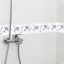 DIY Self-Adhesive Wallpaper Border Waterproof 5M Bathroom 3D Flower Pattern PVC Wall Stickers Waistline Kitchen Room Wall Decor