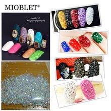 New 1440pcs Clear AB Crystal Pixie Mini Nail Rhinestones Metal Chrome Zircon Micro Diamonds 3D Nail Glass Decoration Accessories