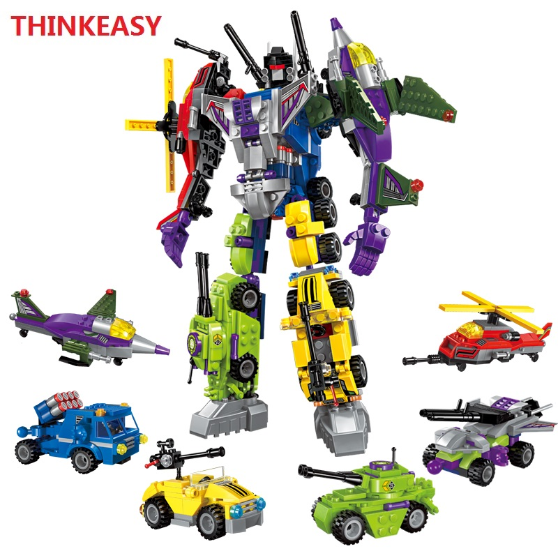 With Package 6 PCS/Set Transformation Robot Cars and Bruticus Toys Action Figures Block Toys For Kids Birthday Gifts 12pcs set children kids toys gift mini figures toys little pet animal cat dog lps action figures