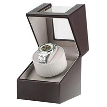 Two Modes Automatic Motor Shaker Single Watch Winder Wooden Box Case for Mechanical Watches AU/EU/US/UK Plug horloge winder
