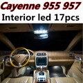17 шт. Х бесплатная доставка Ошибка Бесплатный LED Интерьер Свет Комплект Пакет для Porsche Cayenne 955 957 2003-2010