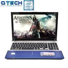 15.6″ Gaming Laptop i7 8GB RAM 64/128/256GB SSD+750GB HDD CPU Intel I7 Notebook Bluetooth DVD Azerty Spanish Russian Keyboard