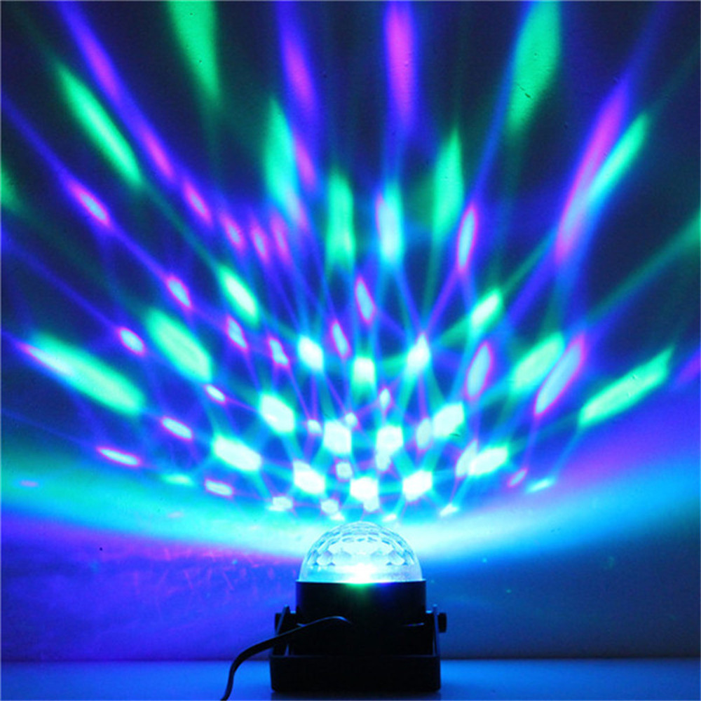 SXZM Mini 3W led stage light with wireless remote AC85-265V Sound activated Crystal Disco Ball light for Party,KTV,Bar etc.