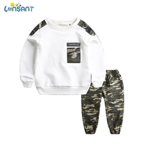 LONSANT Baby Boys Clothing Sets Autumn Winter Boy Set Sport Suits For Boys Sweatshirt Pants 2 Pieces Kids Clothes N30 cheap Fashion CN(Origin) O-Neck Pullover Baby boys Set Cotton Full Regular Fits true to size take your normal size Coat Patchwork