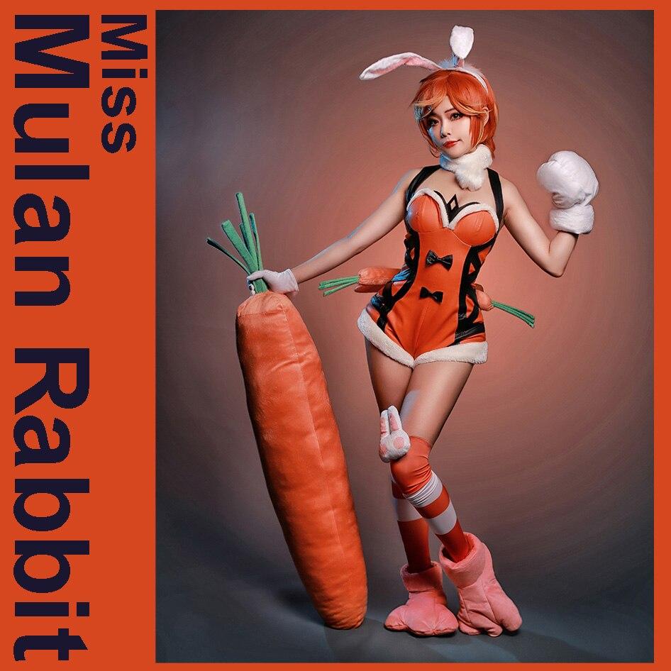 Miss Carrot Mulan Rabbit Lady Sexy Cosplay Halloween -8365