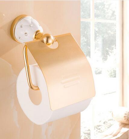 Dofaso bathroom accessories gold aluminum/copper corner shower shelf bath hook, holder, rack accessory