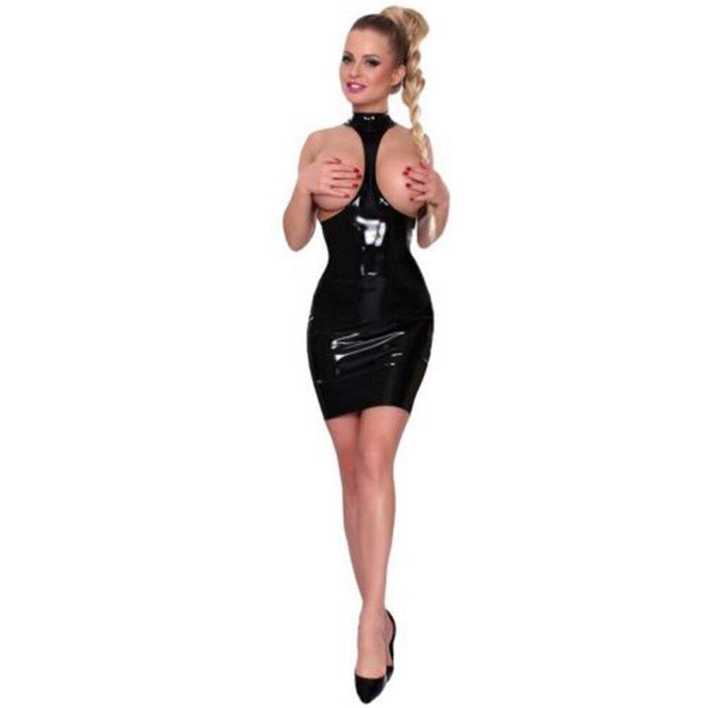 ¡Novedad! lencería sexy de látex de charol ligero con cuello redondo y agujeros para las nalgas y las nalgas, vestido de Vestido de PVC para club, vestido de cuero ¡Nuevo diseño! Botas Eilyken de malla con cristales de imitación y diamantes de imitación, calcetín de tejido elástico, zapatos de punta estrecha transparentes de PVC a la moda, zapatos de tacón alto sexis