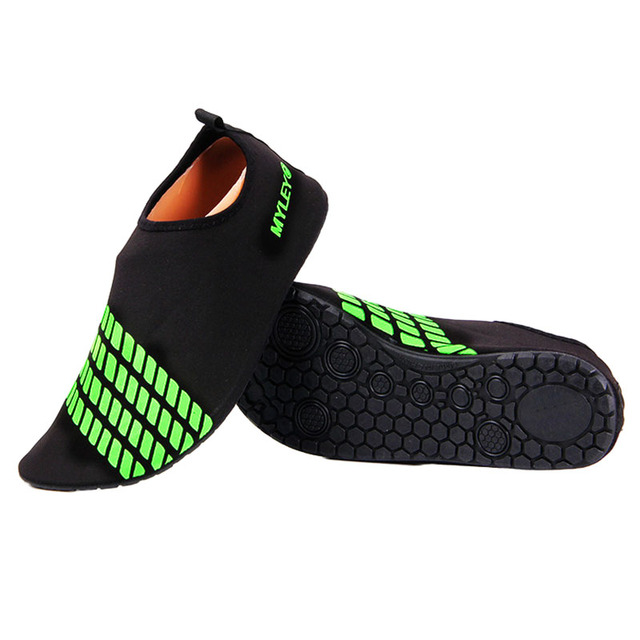 ff08a7c079938 New Sale MYLEYON New Men Skin Shoes Water Shoes Aqua Diving Sport Socks  Pool Beach On Surf black+Green Blue Rose red