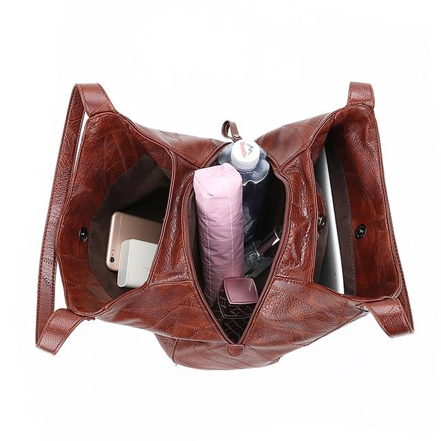 Hobos Bag Women Leather Handbags Female Shoulder Bags Lady Tote Soft Bag Vintage Bags for Women Casual Bolsos Feminina 2019 Sac 1