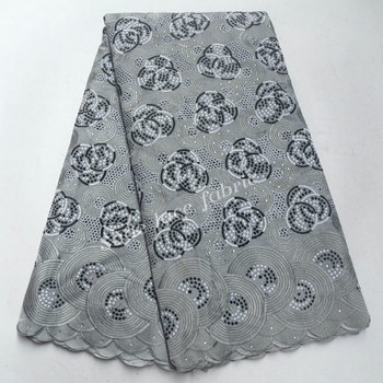 2020 Most popular Nigerian Laces Fabrics High Quality Swiss Voile With Stones Swiss Voile Lace In Switzerland IG275