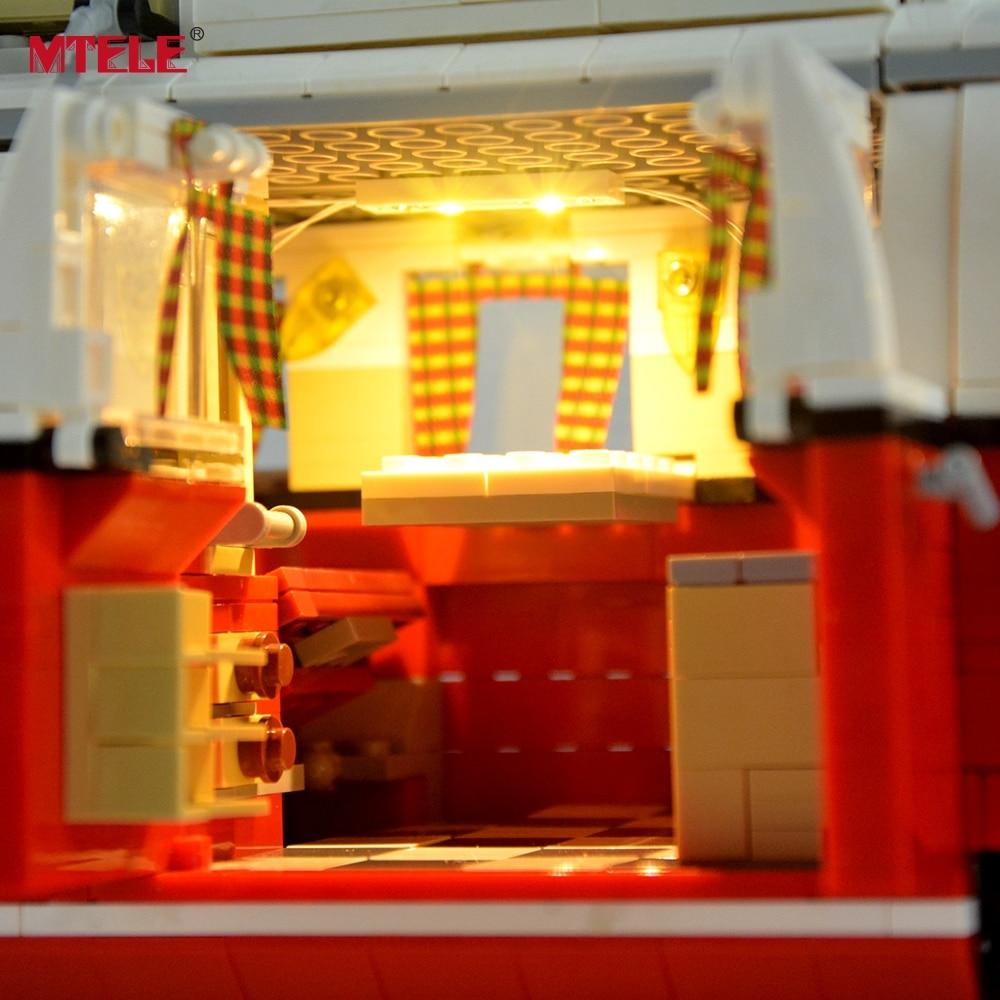 MTELE DIY LED Light Up Kit Untuk Creator Seri T1 Camper Van Light Set - Mainan bangunan dan konstruksi - Foto 4