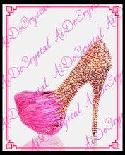 Aidocrystal handmade sexy kleid Schuhe High Heel Frauen Schuhe Pumpt freies verschiffen