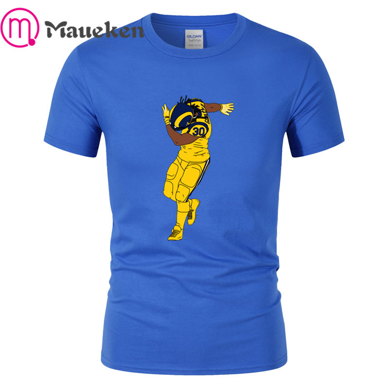 new product d7462 e3a85 US $16.99 10% OFF 2019 LA Dab Todd Gurley Ii T shirt Men Short Sleeve 100%  cotton O Neck T shirts for dallas fans gift 003-in T-Shirts from Men's ...