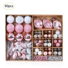 90pcs/lot Christmas Tree Pendants Ball Special Shaped Balls Many Packages Decorations Hanging Ornament
