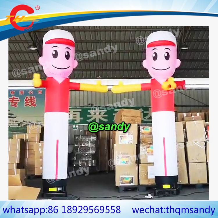 Sky Blue 20ft 18 Inflatable Tube Sky Puppet Tube Man Air Puppet Wind Flying Air Sky Tube Promotional Balloons Advertising Waver People Dancer NO Blower