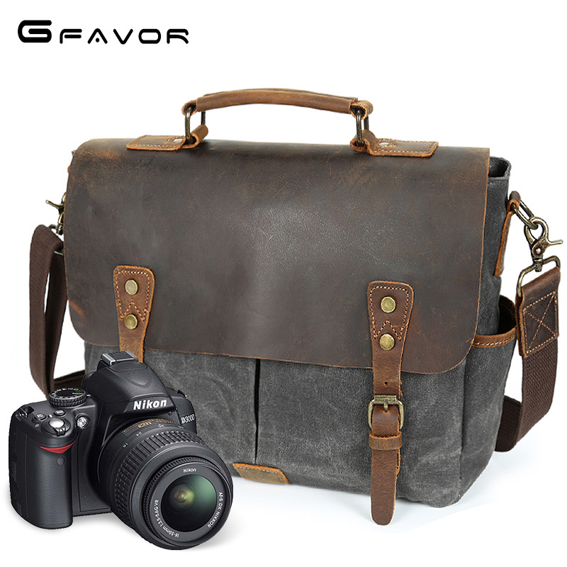 Vintage Canvas Handbag Men Multifunction Shoulder Messenger Bags Male Laptop Bag Waterproof Travel Crossbody Bags SLR Camera Bag camera video bag digital dslr slr bag men messenger bags small travel crossbody shoulder bag for man