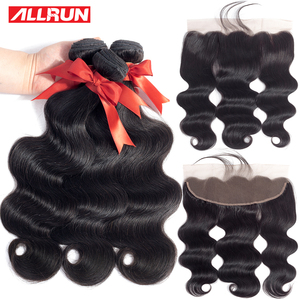 Bundles with Frontal Human Hair Weave Bundles 13x4 Lace Frontal With Bundles non Remy Brazilian Body Wave Lace Frontal Closure