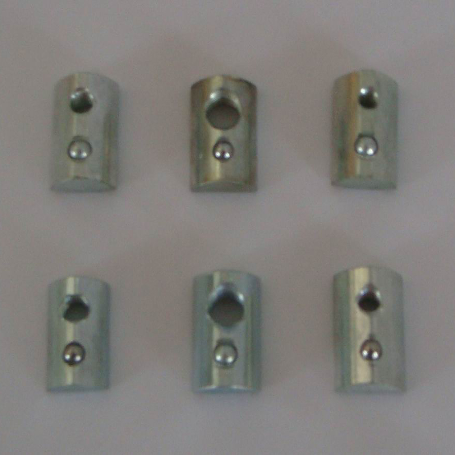 M4/M5/M6/M8 T Slot Half Round Nut Flat Head Rectangle Aluminium Profile 20pcs