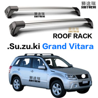 2 pcs For Suzuki Grand Vitara 5 Door SUV 2007 2013 roof rack roof bar car special aluminum alloy belt lock Led shooting