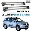 2 pièces pour Suzuki Grand Vitara 5 porte SUV 2006 2013 barres de toit barre de toit voiture spéciale en alliage d'aluminium ceinture serrure Led tir