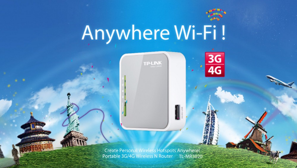 NEW TP-LINK TL-MR3020 150Mbps Portable 3G/4G wireless wifi repeater router with USB powered English firmware(logo randomly) tp link wireless router 802 11ac ac1750 dual band wireless wifi router 2 4g 5 0g vpn wifi repeater tl wdr7400 app routers