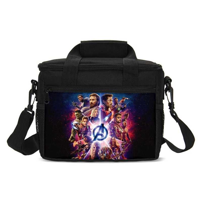 Lunch Bags Fashion Marvel Avengers Infinity War Super Hero 3D Printing Small Ice Bags Insulated Thermal Picnic Lunchbox Handbags