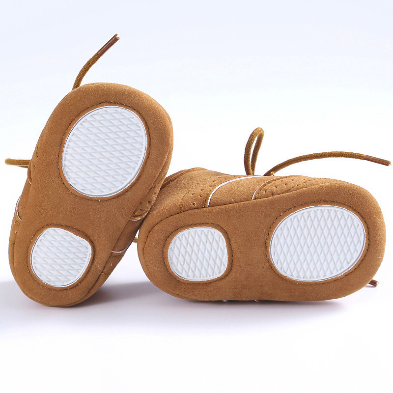 Baby Toddler Soft Sole Leather Shoes Infant Boy Girl Toddler Shoes Prewalker Anti-Slip First Walker Simple Baby Shoes 17Dec29