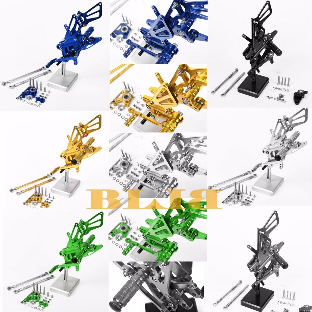8 цветов ЧПУ Rearsets для Honda CBR600RR ЦБ РФ 600RR 2007 - 2016 Мото задний комплект Регулируемая подножки педаль 2015 2014 2013 2012 2011