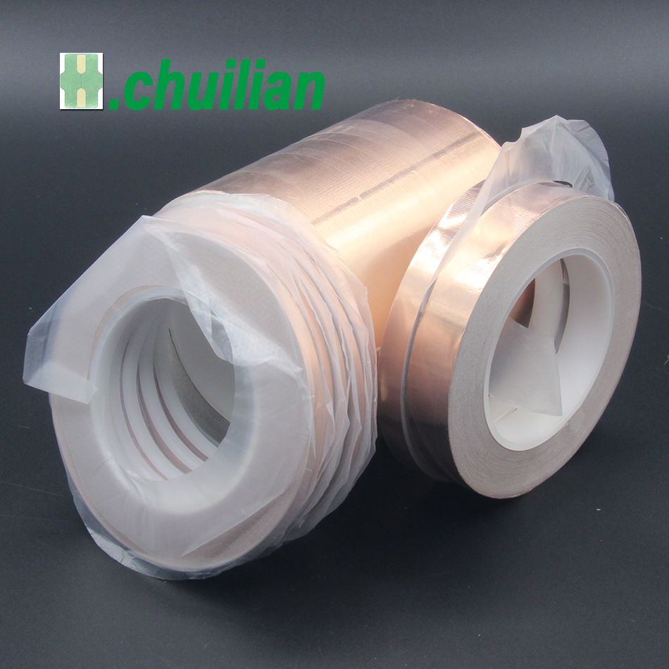1Pcs 15mm-150mm Single Conductive COPPER FOIL TAPE Strip 1pcs X 30M EMI Shield  COPPER FOIL TAPE