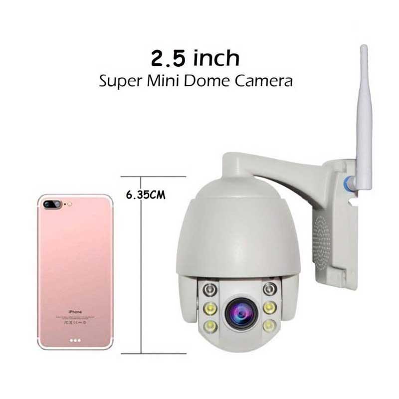 Mini PTZ Camera 5X Zoom HD 1080P Waterproof Security IP Camera 360° View ONVIF CCTV Video Surveillance System Full Color Night