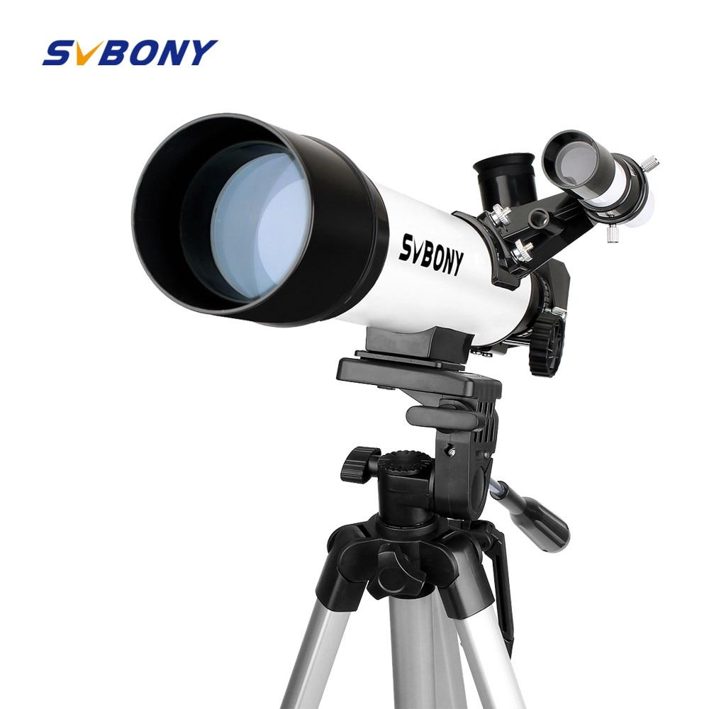 SVBONY SV25 60/420mm Refractor Astronomy Telescope for Beginner School with Cell Phone Mount Adapter Monocular Profession F9304 plastep sv25