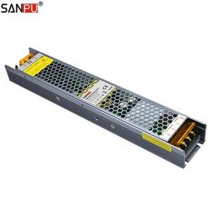 Светодиодный Диммируемый драйвер SANPU 200 Вт 24 В 8A Triac 0-10 В 2 в 1, Диммируемый 24В постоянного тока, блок питания 220 в 240 в, трансформатор на 24 В, с пит...