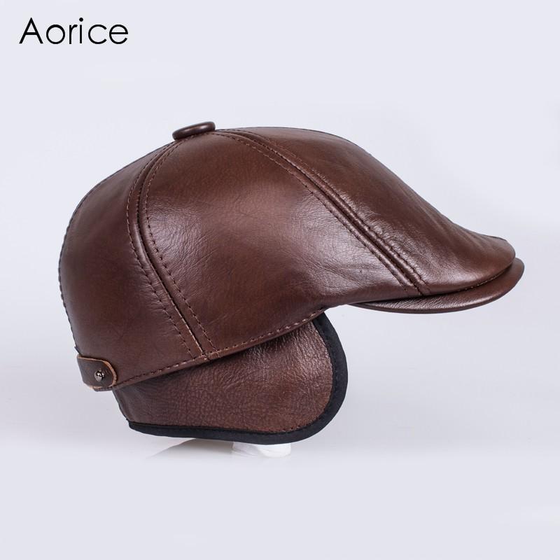 HL110 genuine leather men baseball cap hat men s real skin leather ... 9aa20914a4af