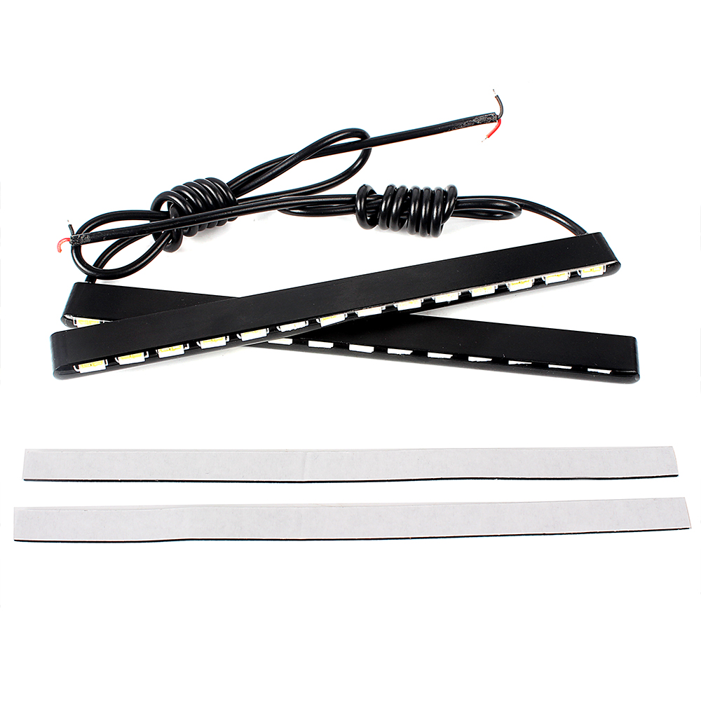 2pcs 14 LEDs SMD Car DRL Led Strip Car Styling 7030 Daylight Fog Light Waterproof Daytime Running Light Super Bright Car Lights fz1 adjustable brake clutch levers for yamaha fz1 fazer 2001 2005 2006 2014 2015 motorcycle accessories cnc aluminum brake lever