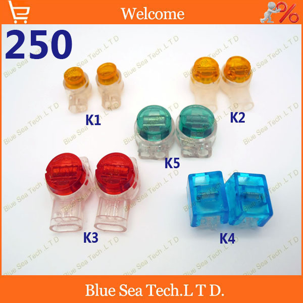 Good quality, 250pcs K1/K2/K3/K4/K5 Wire Connector,5 in 1 network ...