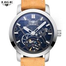 2016 New Men s Watch LIGE Men s font b Luxury b font Branded Watch Automatic