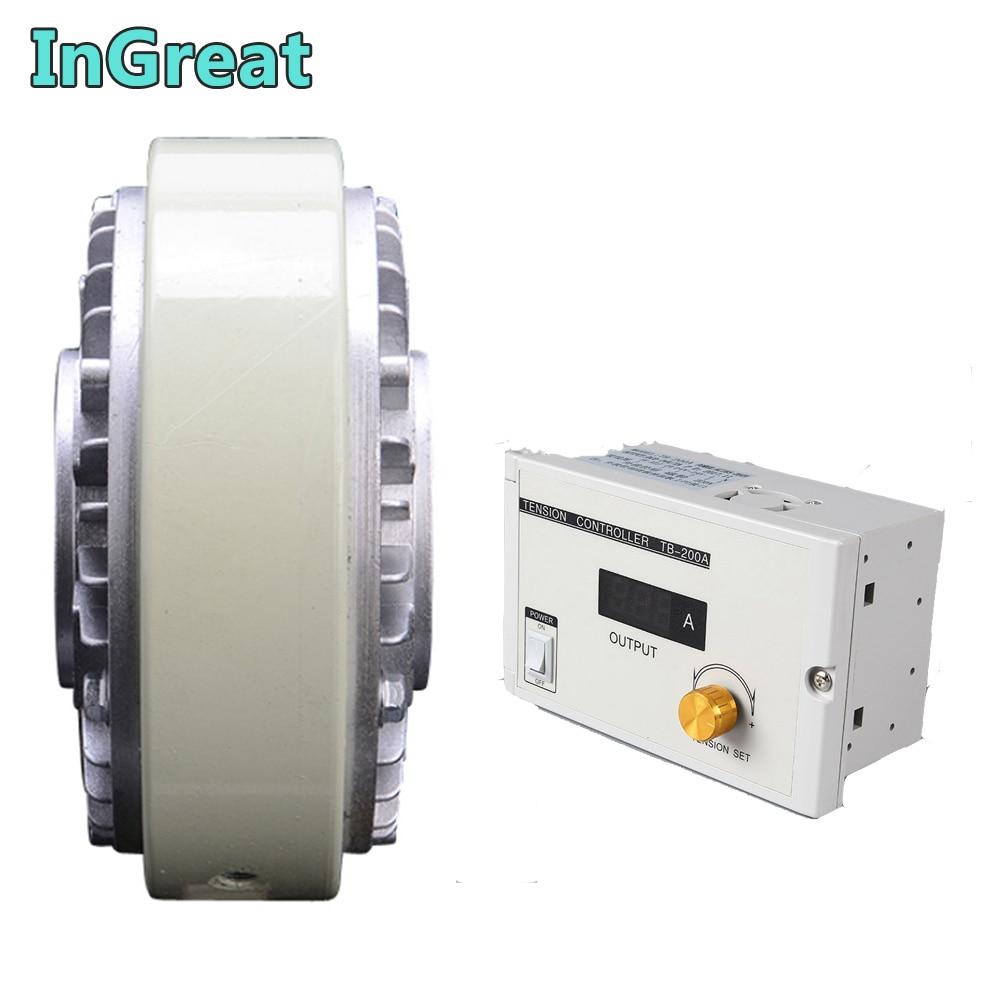 Hollow Shaft Magnetic Powder Brake 50Nm 5kg DC 24V  w/ Manual Tension Controller Kits for Printing Packaging Peritoneal Machine|Magnetic Powder Brakes| |  - title=