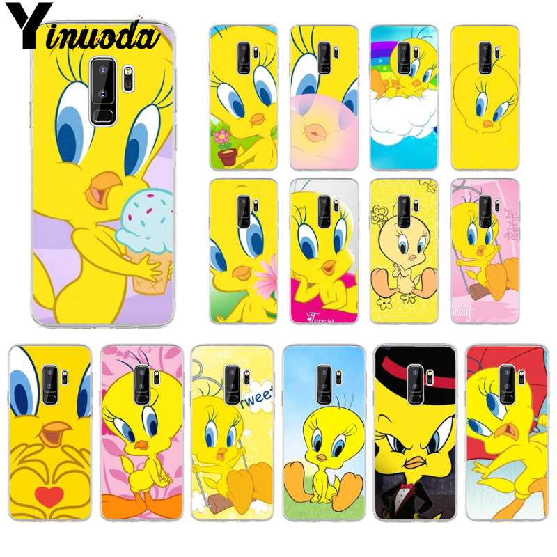 Yinuoda Phone-Cover Case Tweety Yellow S9-Plus Unique-Design Samsung Galaxy For S6 S5