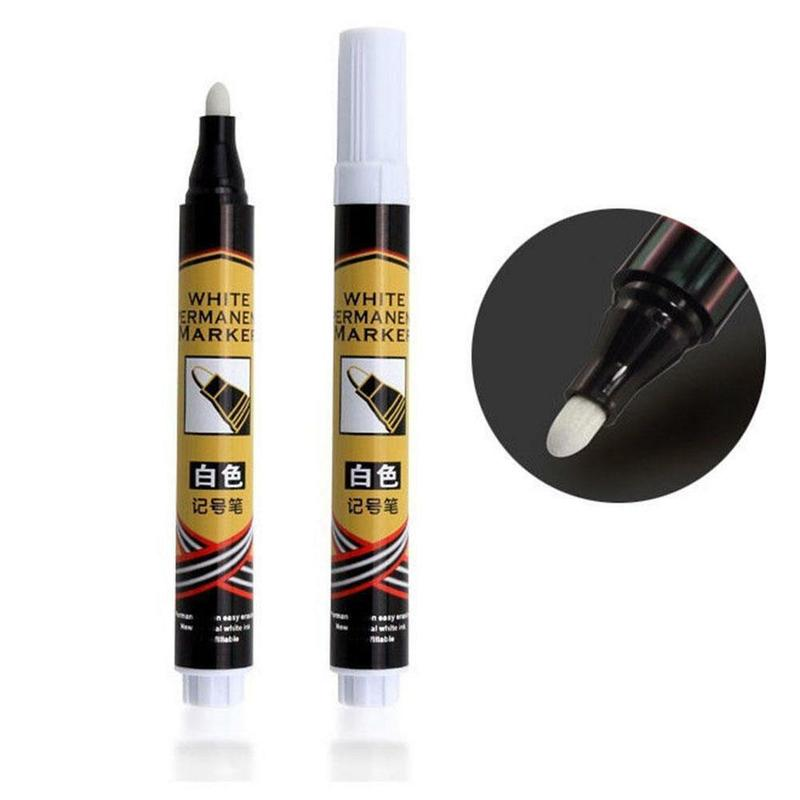 White Marker Pen Paint Oil Car Tyre Tire Tread Marker Pen For Tires Waterproof Permanent Paint Marker Cd Metallic Graffiti Pen