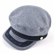 Spring Autumn Newsboy Hats For Women Lace belt button Military Caps Ladies Fashion Streetwear Flat Caps Female Octagonal Boina