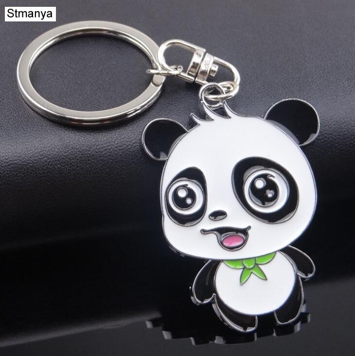 Panda Key Chain New Cute Panda Metal Keychain For Bag Car Key Ring Tourism Souvenir Gifts Key Chains #17072