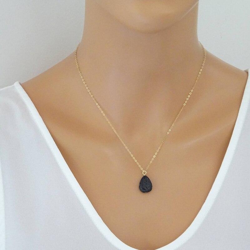 Lava Stone Necklace Teardrop Lava s