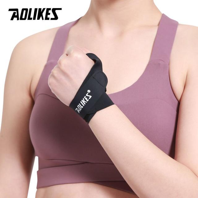 AOLIKES 1PCS Wristband Wrist Brace Wrist Support Strap Wristbands Wrap Splint Fractures Carpal Tunnel Sport Sprain 1