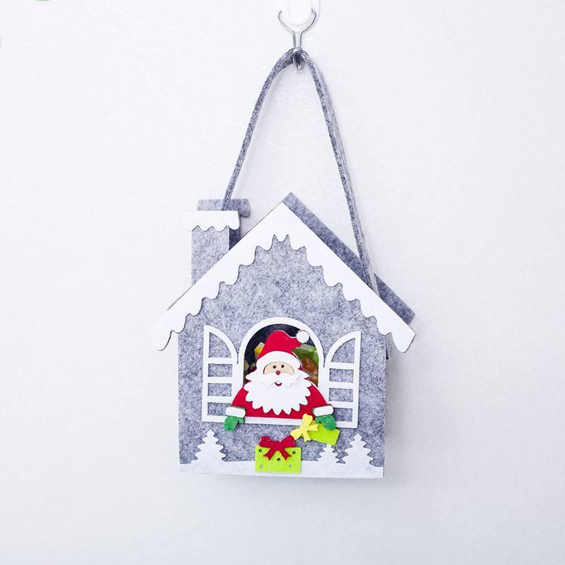 New Christmas Candy Gift Holder Treat Bag Portable Felt Xmas Holiday