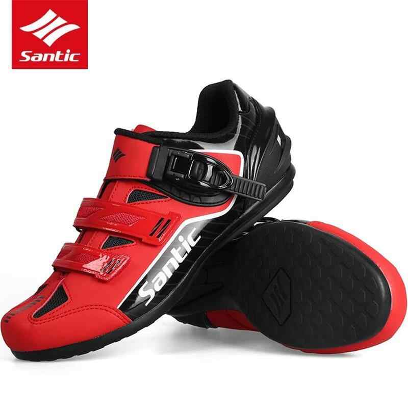 2a87e2a3175a3 SANTIC Cycling Shoes Sneaker Breathable Outdoor Sport Professional Road Bicycle  Shoes Non-Slip No-