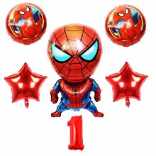 6pcs/lot Spiderman Balloon 16 inch Number Set Party Inflatable Birthday Decoration dot globos  Gift For