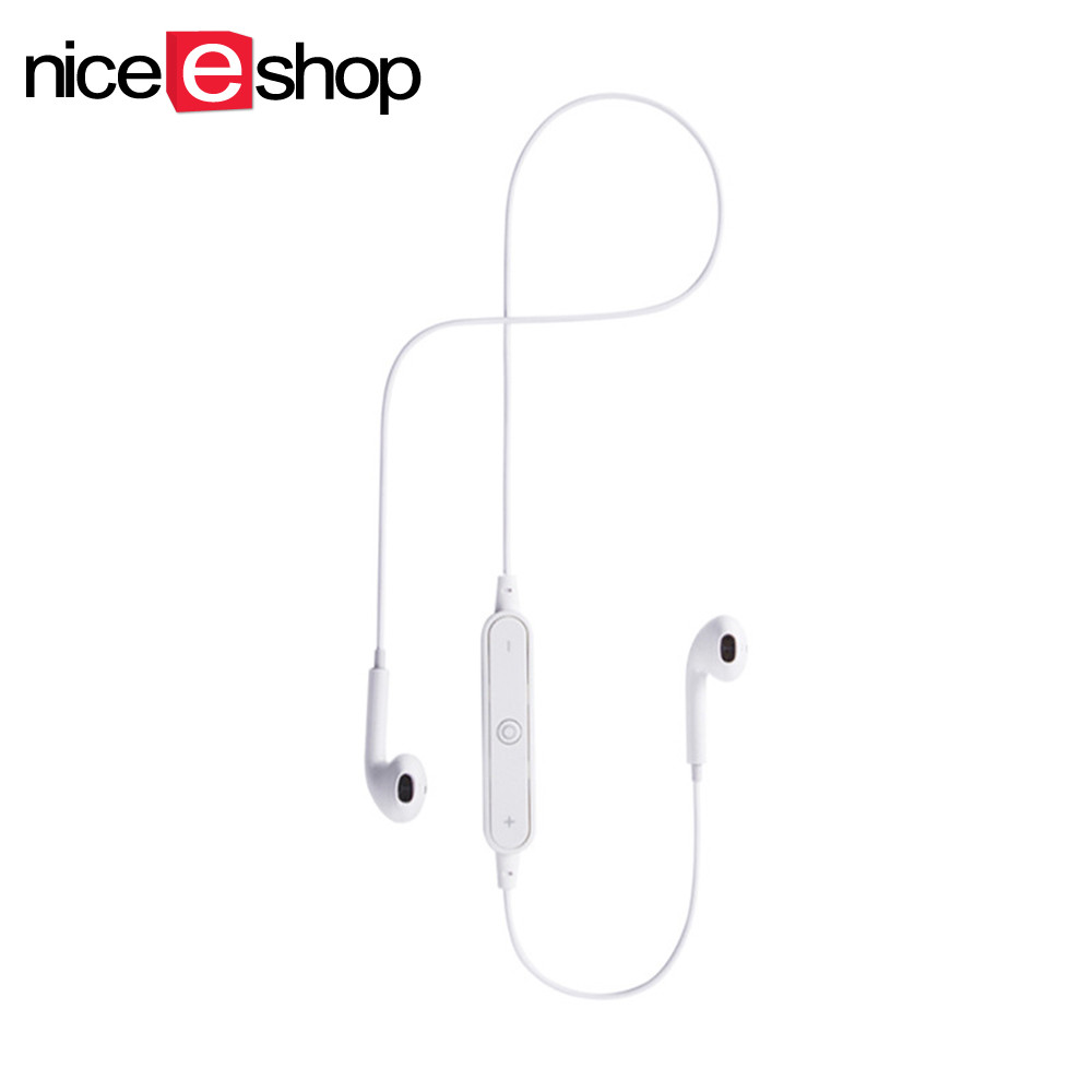 S6 Sports Bluetooth Wireless Earphone Stereo Earbud Bass Sweatproof Running Headset Earphones with Mic Hands-free call