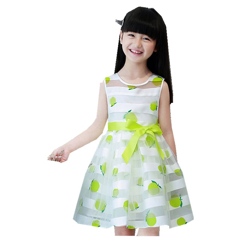 Girl Dress Summer Korean Child Stripe Lady Candy Color Princess Kids Clothing