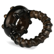 Black Time Delay Silicon Penis Rings Cock Rings Set for Man Erotic Sex Toys Adult Sex Products for Men Penis Product B2-2-2